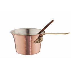 Hand-hammered copper, tin-lined Polenta Pot from Ruffoni