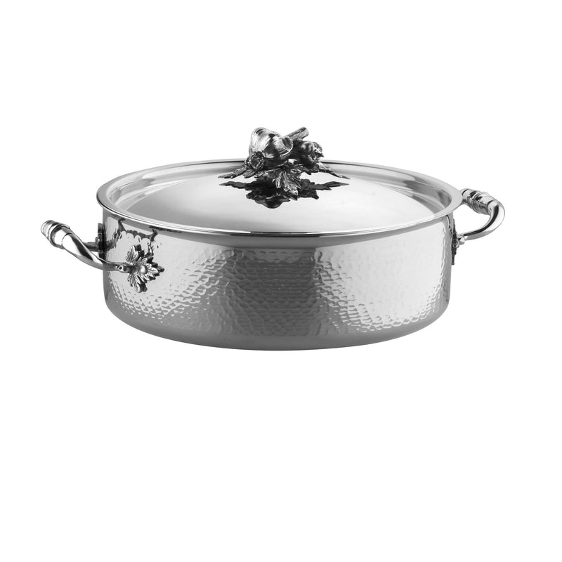 Hand-hammered, clad stainless steel braiser from Ruffoni