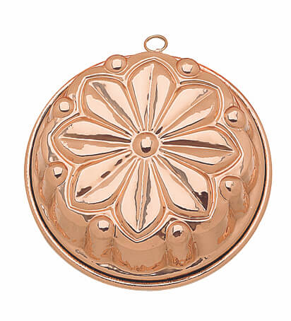 28cm, Flower shaped copper bundt mold