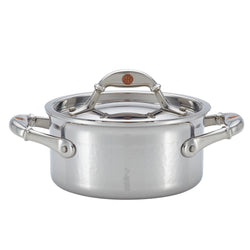 Ruffoni Symphonia Prima hand-hammered stainless steel sauce pot 2qt