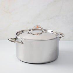 Hand-hammered, clad stainless steel 8 qt stockpot from Ruffoni