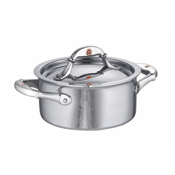 Small hand-hammered, clad stainless steel casserole from Ruffoni