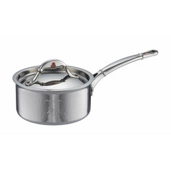 Small hand-hammered, clad stainless steel saucepan from Ruffoni