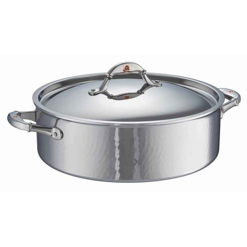 Large hand-hammered, clad stainless steel braiser from Ruffoni