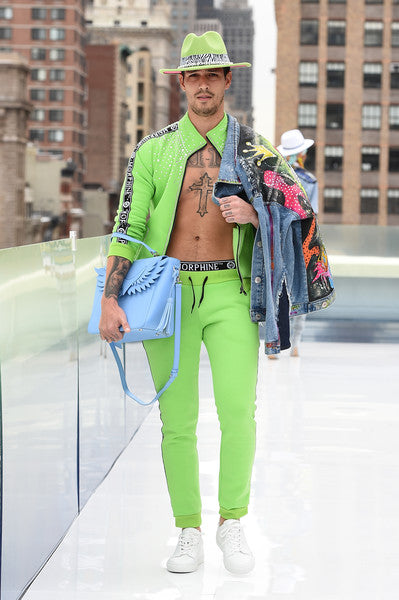 Tracksuit and Donald Denim Jacket by Morphine Fashion on NYFW 2021