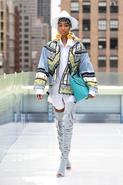 Lima Denim Couture Jacket by Morphine Fashion on NYFW 2021