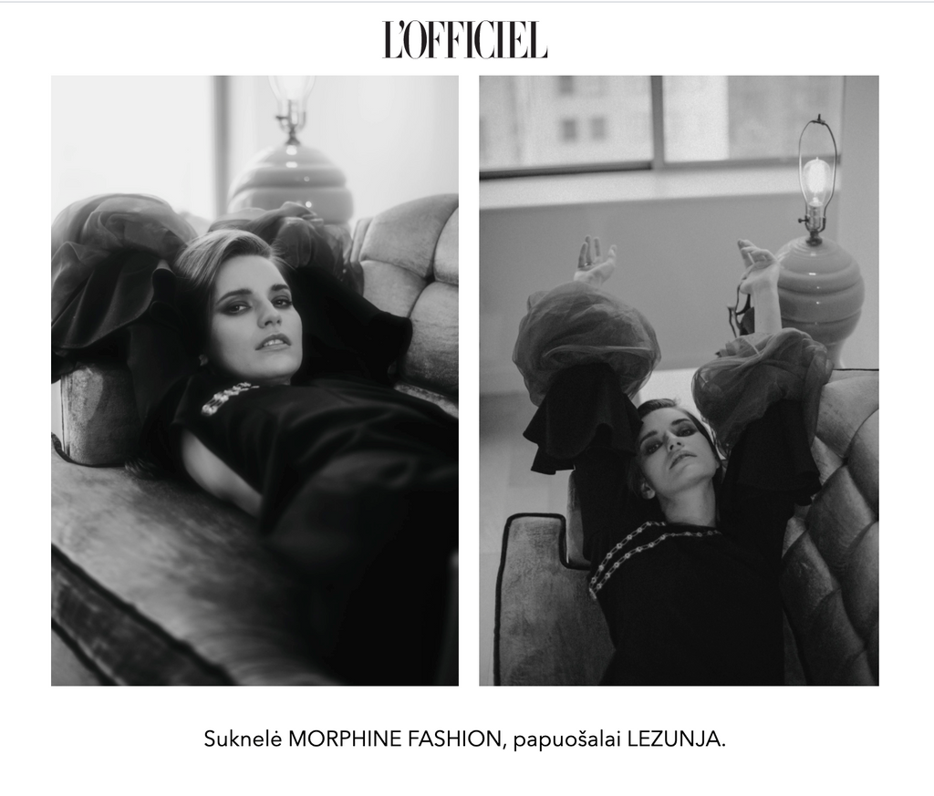 Morphine Fashion in L'officiel