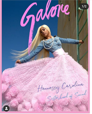 Hennessy Caroline on the cover of Galore magazine