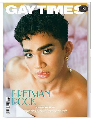 Bretman Rock on the cover of GayTimes magazine