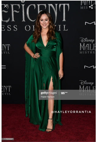 Hayley Orrantia wearing Evening Dress by Morphine Fashion