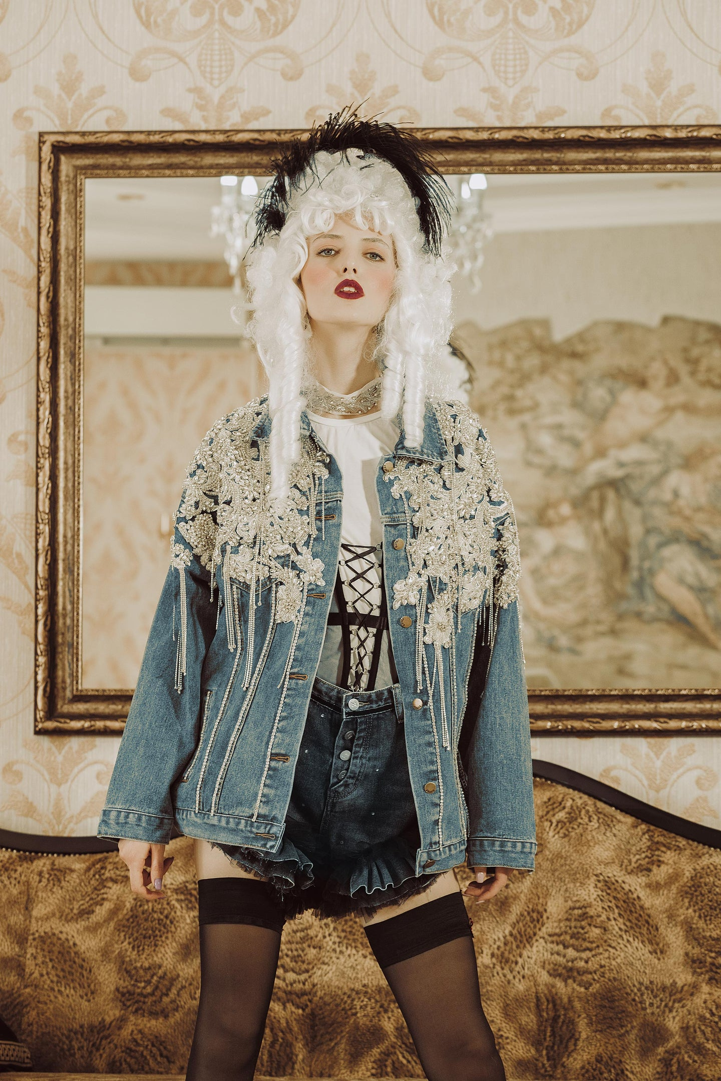 Couture Denim Jacket by Morphine Fashion