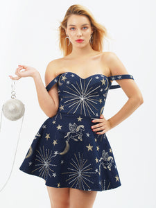 Fairy Tale Denim Dress by Morphine Fashion