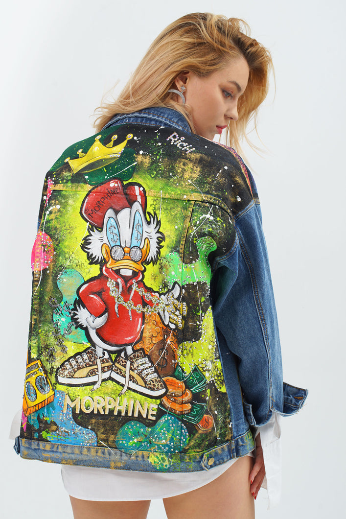 Donald Artistic Denim Jacket by Morphine Fashion