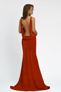 Chic Evening Maxi Dress with open back