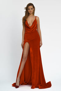 Chic Evening  Red Maxi Dress