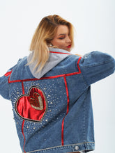 "Charger l'image dans la galerie, ""LOVE YOU"" Denim Jacket by Morphine Fashion"