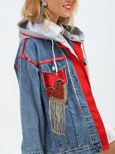 """LOVE YOU"" Denim Jacket by Morphine Fashion"