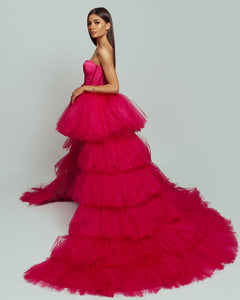 Hollywood Pink Dress with puffy, oversized skirt