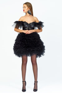"Black Mini ""Princess"" Dress by Morphine Fashion"