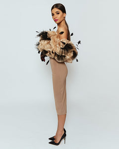 Lovely Ostrich Feather Dress by Morphine Fashion