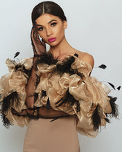 Load image into Gallery viewer, Lovely Ostrich Feather Dress by Morphine Fashion