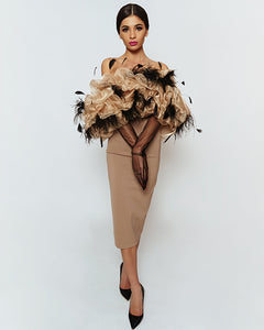 Lovely Ostrich Feather Dress