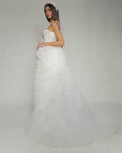 Load image into Gallery viewer, Swan Wedding Dress with gorgeous long veil skirt
