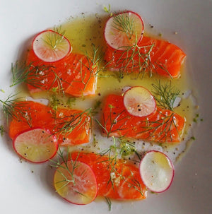 Fennel and Zest Cured Steelhead Trout