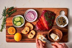 Beet-Cured Gravlax Recipe