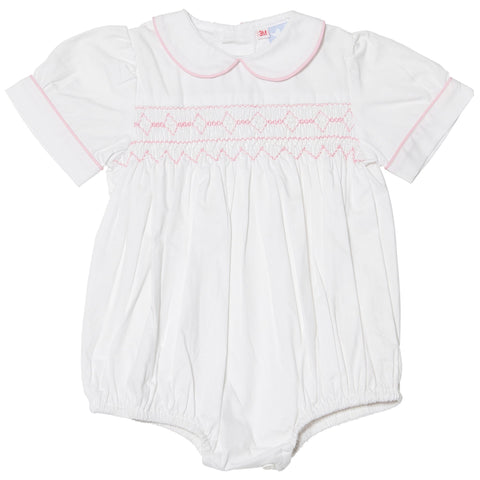 TILLY PINK SMOCKED ROMPER