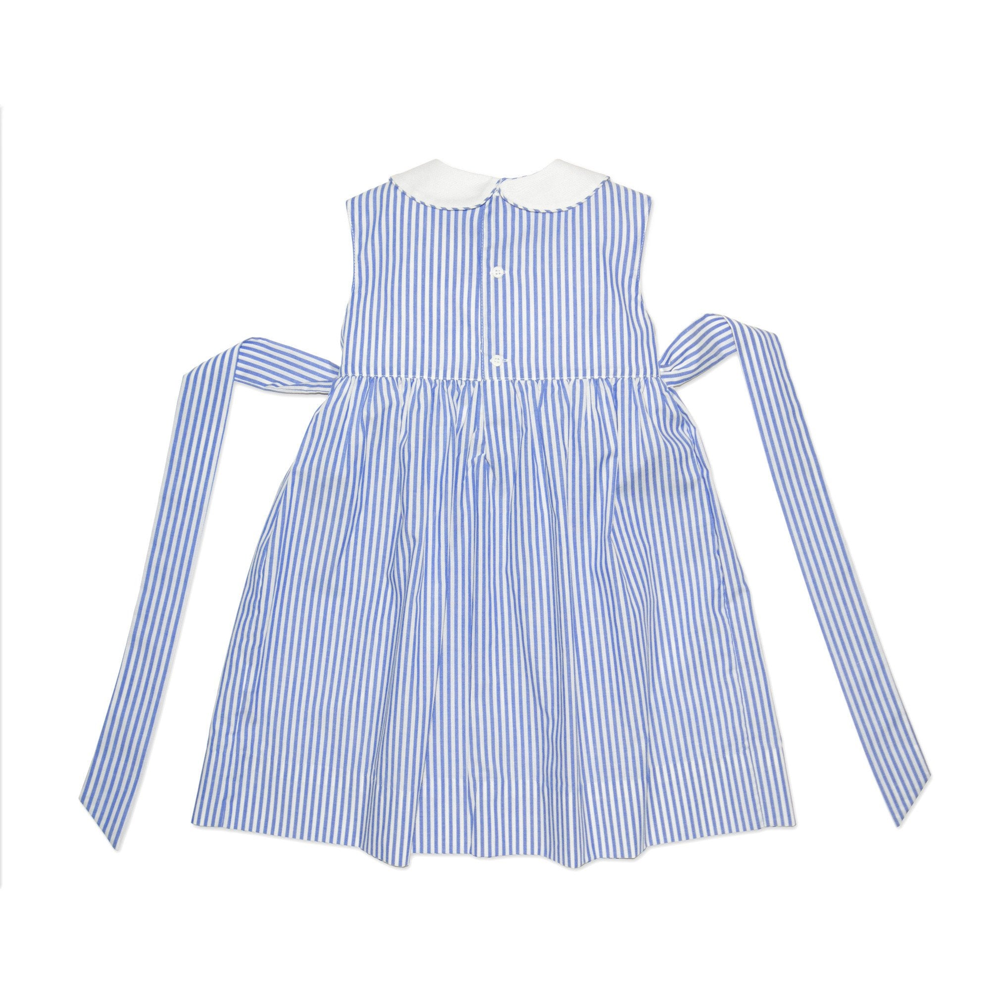BELLA PIN STRIPE SAILBOAT SMOCK DRESS