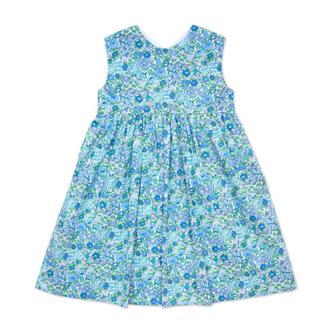 FLORRIE BLUE AND GREEN FLORAL DRESS