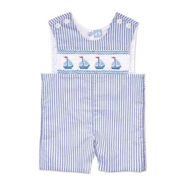MAC BLUE AND WHITE STRIPE SAILBOAT OVERALLS