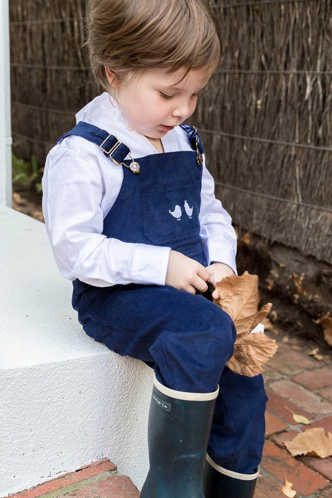 CORDUROY OVERALLS IN NAVY