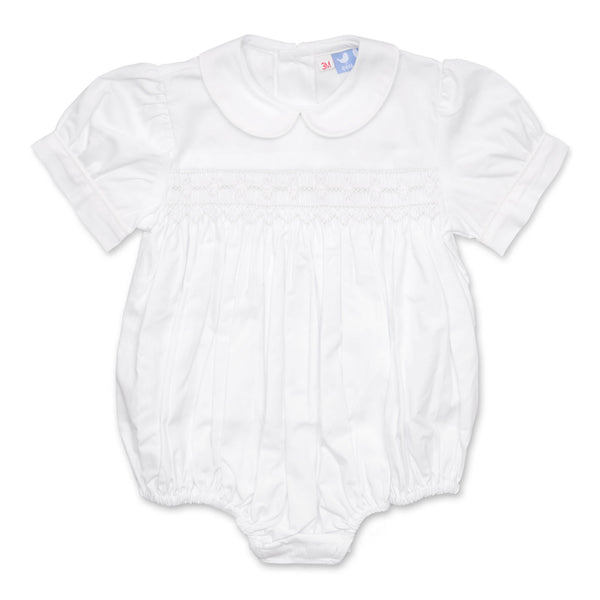 TILLY WHITE SMOCKED ROMPER