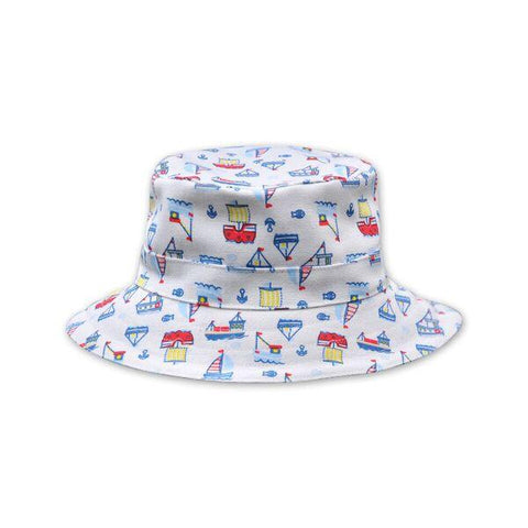 BOYS SAILBOAT MULTI PRINT HAT