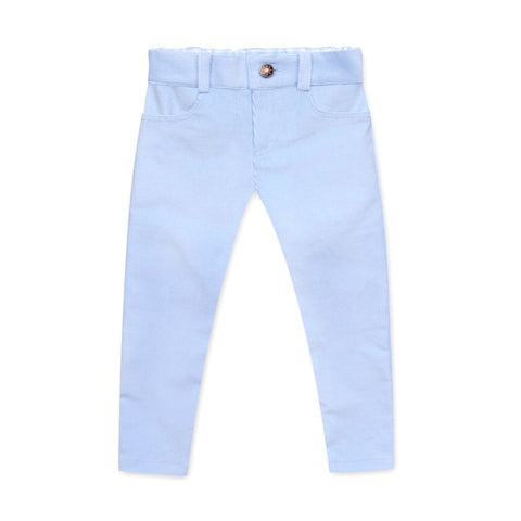 CORDUROY PANTS IN PALE BLUE