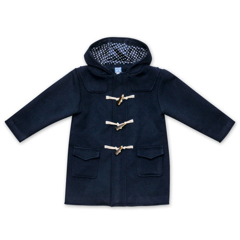 NAVY WOOL UNISEX PADDINGTON COAT