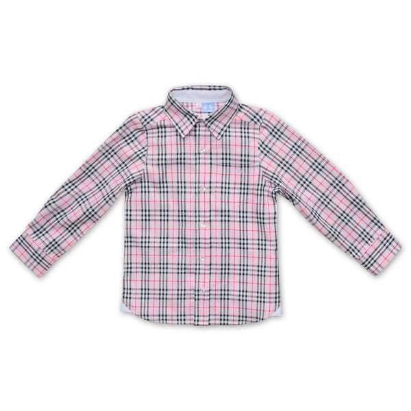 PINK, RED AND WHITE OXFORD SHIRT