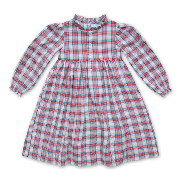 RUFFLE COLLARED TARTAN NIGHTIE