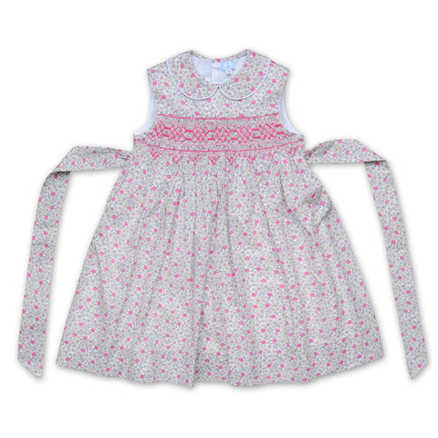 BELLA PINK AND PURPLE LIBERTY PRINT SMOCK DRESS