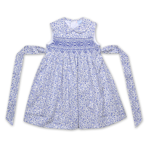 BELLA BLUE PAISLEY SMOCK DRESS