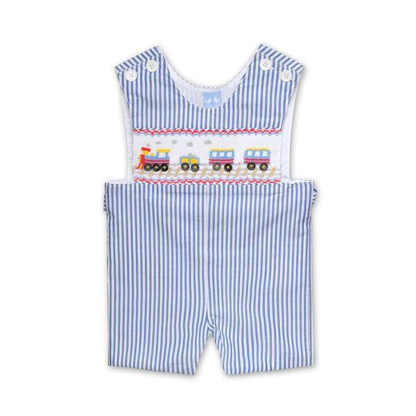 MAC BLUE AND WHITE STRIPE TRAIN OVERALLS