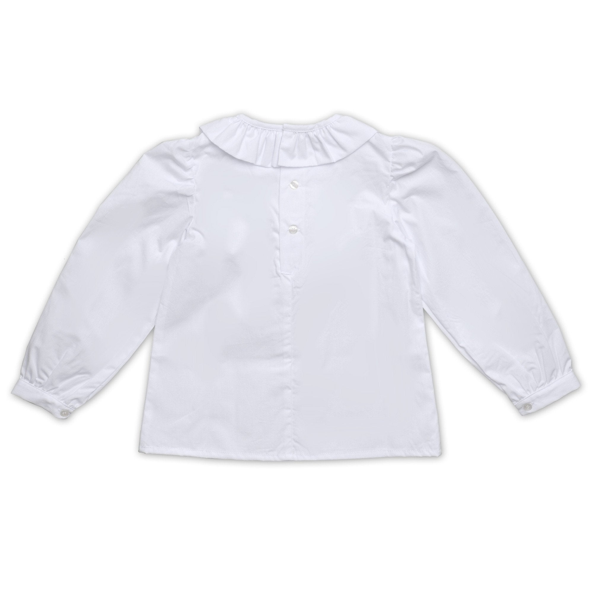 FRILL COLLARED SHIRT IN WHITE