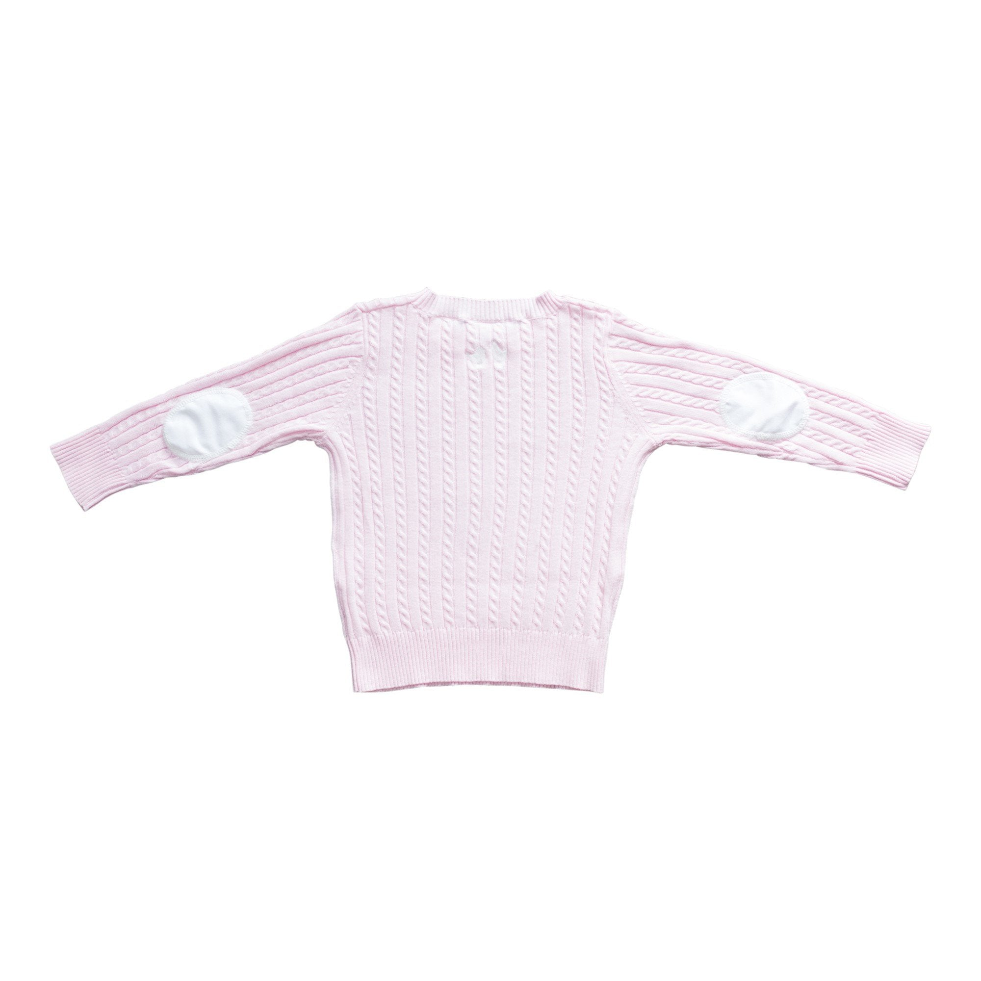 PINK COTTON CABLE KNIT JUMPER