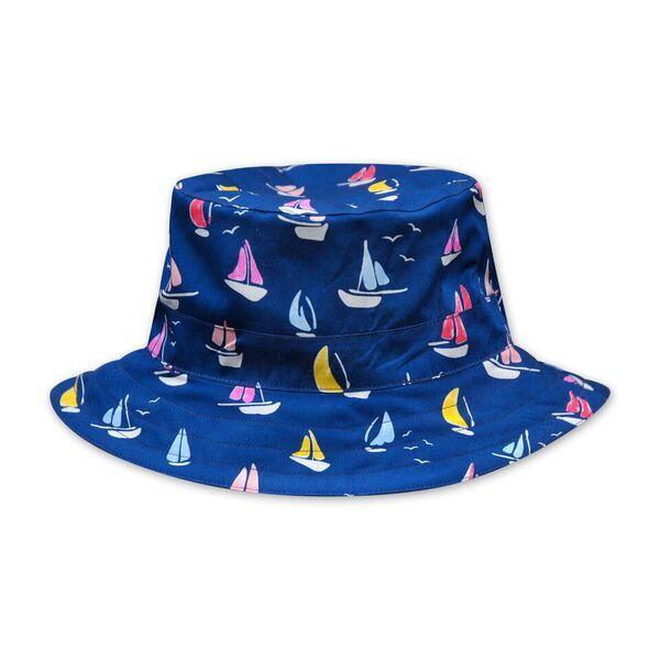 BOYS NAVY YACHT PRINT HAT