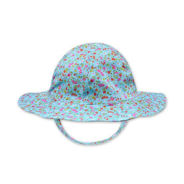 FLORRIE HAT IN BLUE FLORAL