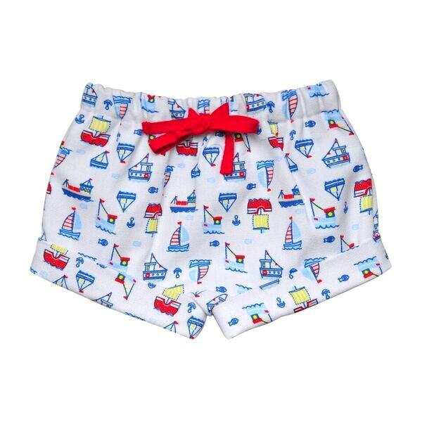BOYS SAILBOAT MULTI PRINT SHORTS