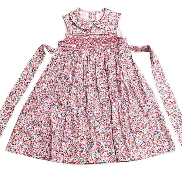 BELLA BRIGHT LIBERTY PRINT SMOCK DRESS
