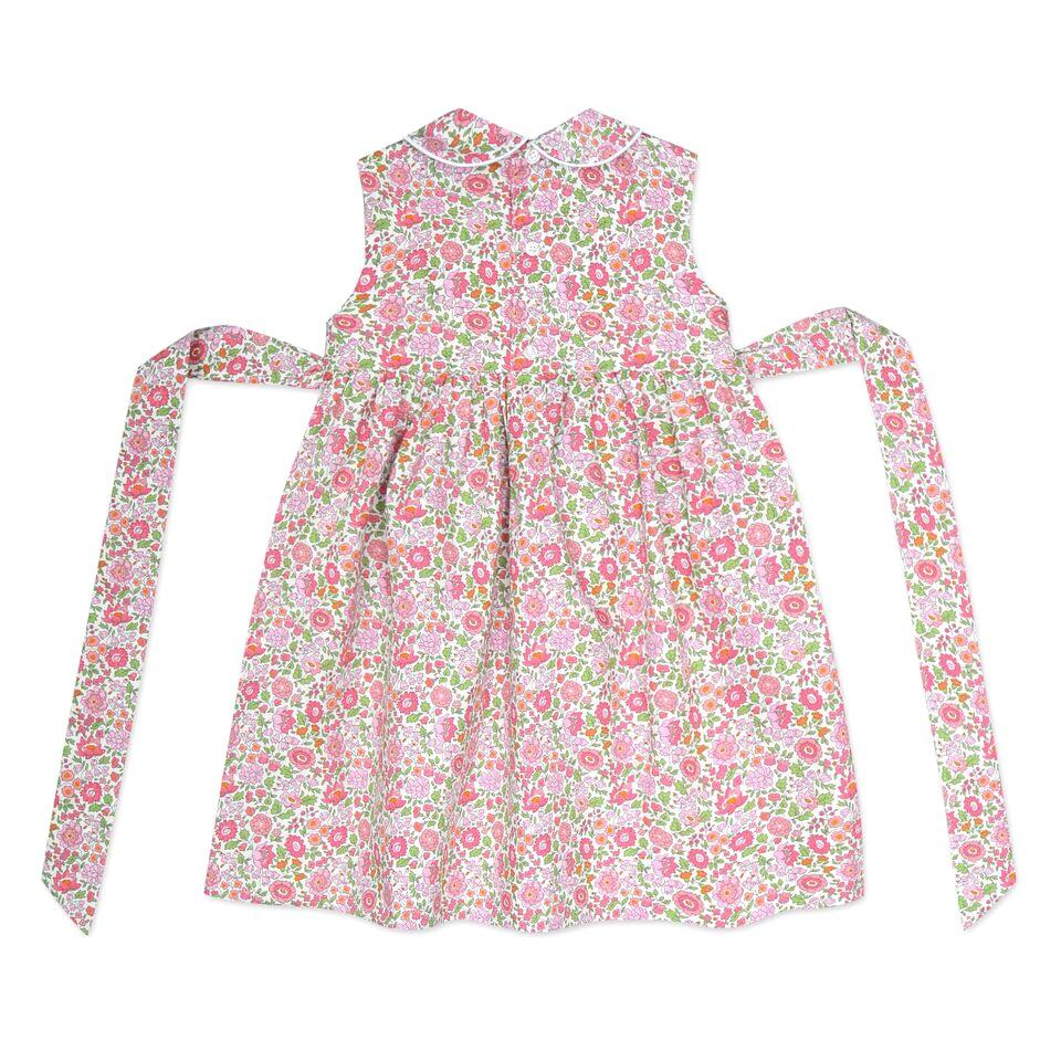 BELLA PINK LIBERTY PRINT SMOCK DRESS